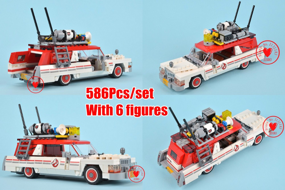 16032 The Ghostbusters Ecto-1&2 Bricks Genuine Movie lepin Building Blocks Toys Children compatiable with lego kid gift set lepin 02012 city deepwater exploration vessel 60095 building blocks policeman toys children compatible with lego gift kid sets