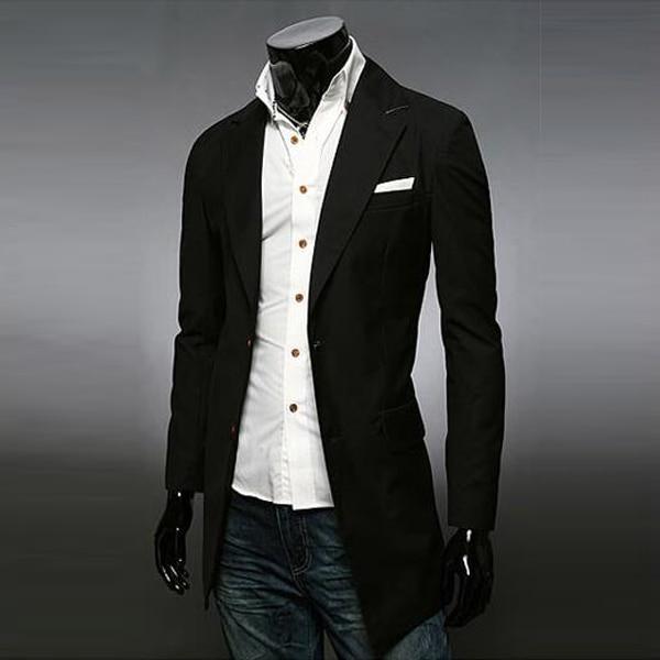 2015 Heißer Verkauf Mode Trenchcoat Männer Einreiher Lange Casual Anzug Kragen Windjacke Geeignet FüR MäNner, Frauen Und Kinder
