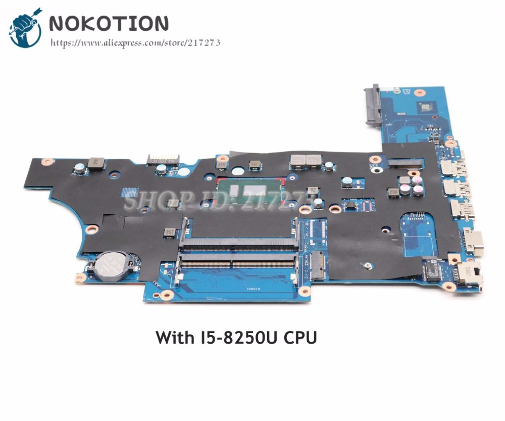 NOKOTION L00829 001 DA0X8CMB6E0 For HP Probook 450 G5 laptop motherboard SR3LA I5 8250U CPU GMA UHD 620