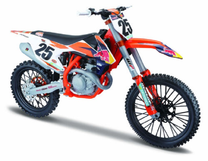 MAISTO 1:6 2017 KTM 450 SX-F RED BULL Supercross moto de course modèle moulé sous pression nouveau dans la boîte