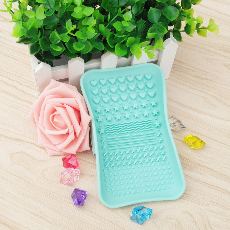 Silicone Brush Cleaning Tools Soap Dish Shape Cosmetics Cleaner Washing Brushes Cleansers (5)