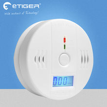 85dB Warning High Sensitive LCD Photoelectric Independent CO Gas Sensor Carbon Monoxide Poisoning Alarm Detector For Security
