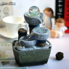Creative Resin Fountain Home Decor Office Desk Ornaments Waterscape Display Flowing Water Decoration