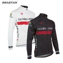 California Republic men cycling jersey winter fleece long sleeve jersey maillot retro bike wear classic bicycle clothing braetan