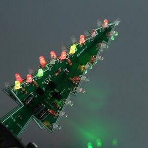 Image 2 - 5 個 7 色 3D クリスマスツリー LED フラッシュ DIY キット立体カラフルな RGB 回路キット電子楽しいスイートクリスマスギフト