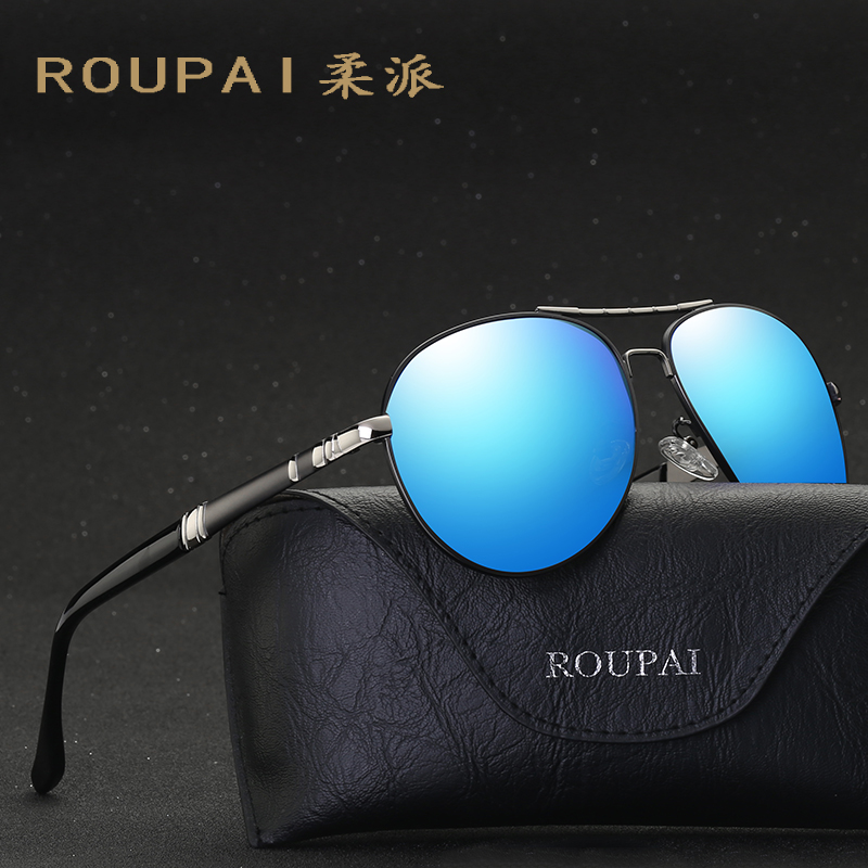 New pair of mens sunglasses stylish drivers mirror classic big frame Bale, sunglasses handsome boy mirror SHENGSHIDA