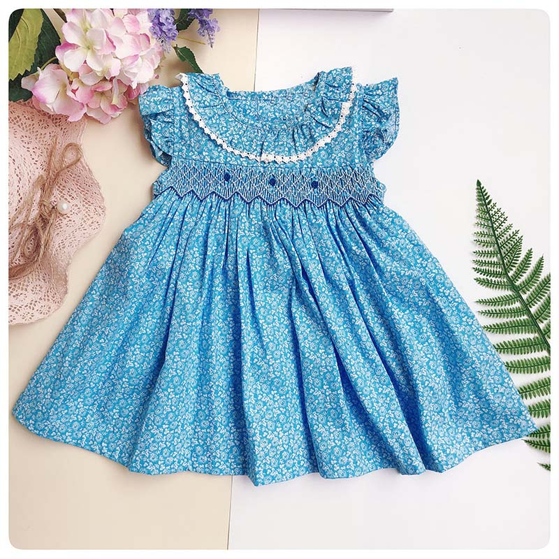c6e4c5e7a Nuevo vestido Smocked bebé niño niñas boda de la princesa fiesta de  cumpleaños, vestido hecho a ...