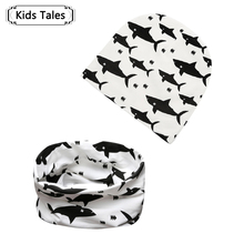 2018 Children s Animal Caps Seals Cotton Baby Hats Baby Hat Scarf 2 pcs Set of
