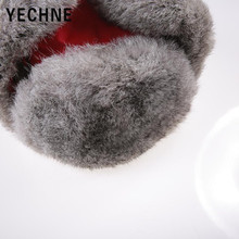 New Winter bomber Rabbit Fur Hats For Women Windproof Warm Hats Motorcycle Flight Ear Protection Cap