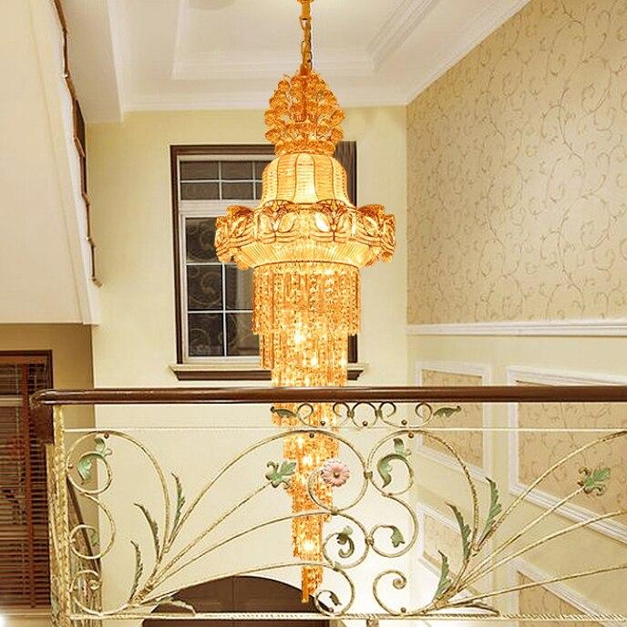 Faruri lungi de aur Lustre de cristal Lustre de cristal Luminărie - Iluminatul interior - Fotografie 2