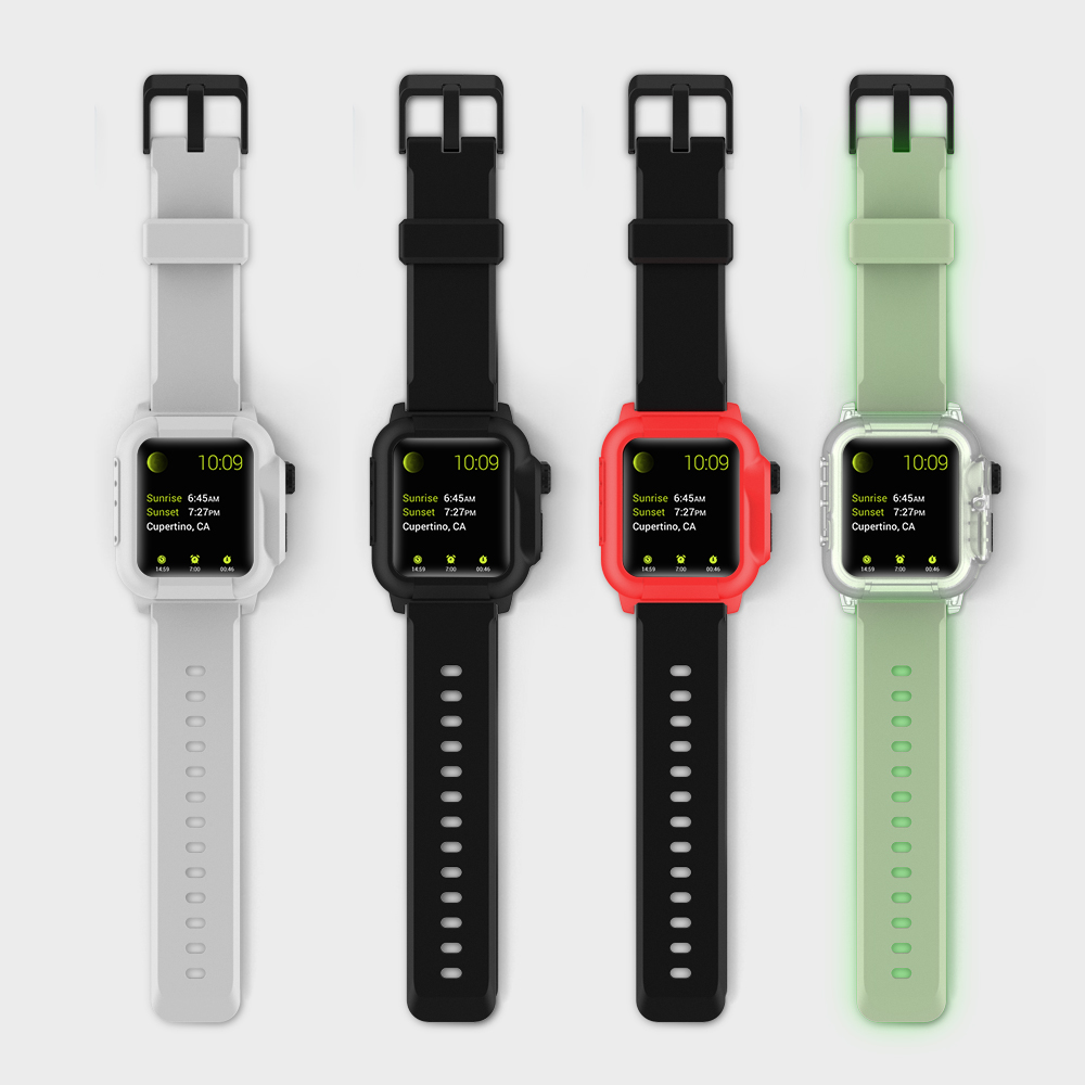 Newest Waterproof Watch Band For Apple Watch Series 1 2 3 Silicone TPU Wrist Strap With Protective Watch Case For Apple Watch nanox apple ipod nano watch conversion kit silver case clear strap