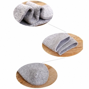 Image 5 - 6PCS=3 pairs 39 45 Mens new winter  velvet warm winter knee high long leg terry socks Cotton Thicken cover calf socks
