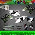 Customized Team Graphics  Backgrounds Decals 3M Custom Stickers For KAWASAKI MST KX250F KX450F KXF KLX 450 250