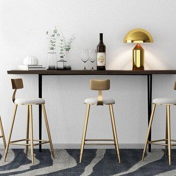 Golden Metal High feet Bar Chair 1