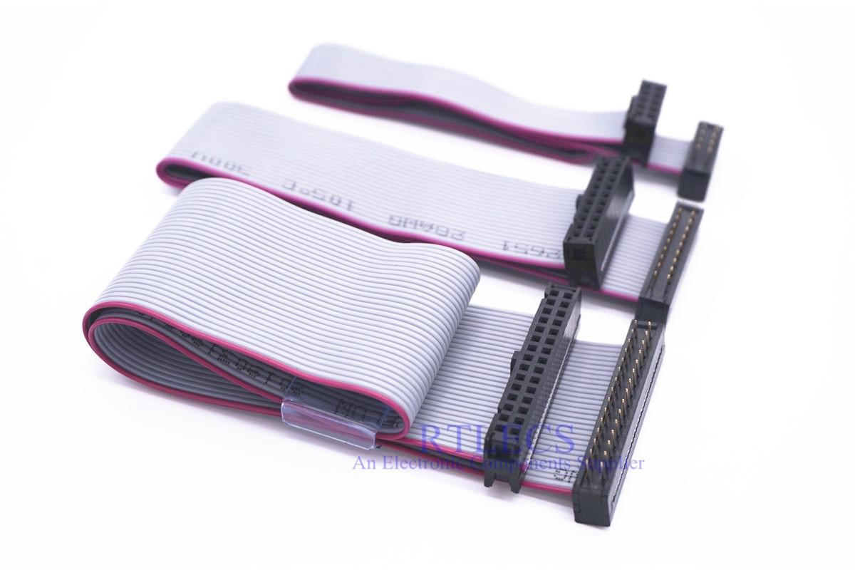 100pcs Flat Ribbon IDC Cable Assembly 2 54 mm 6 8 10 14 16 20 26