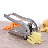 with 2 Blades Manual French Fry Cutters StainlessSteel Manual Bar Cutting Machine Potato Chips Maker FruitVegetable Chopper