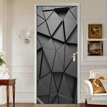 Наклейки на двери DIY 3D Фреска для гостиной спальни домашний декор плакат ПВХ самоклеющиеся водонепроницаемые креативные наклейки на дверь