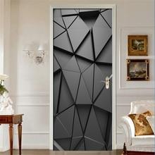 Наклейка на дверь s DIY 3D Фреска для гостиной спальни домашний декор плакат ПВХ самоклеющаяся водостойкая креативная дверная наклейка наклейки