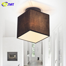 FUMAT Nordic Small Ceiling Light Aisle Light Porch Ceiling Lamps Simple Cloakroom Balcony Lamp Fabric Lampshade Ceiling Light