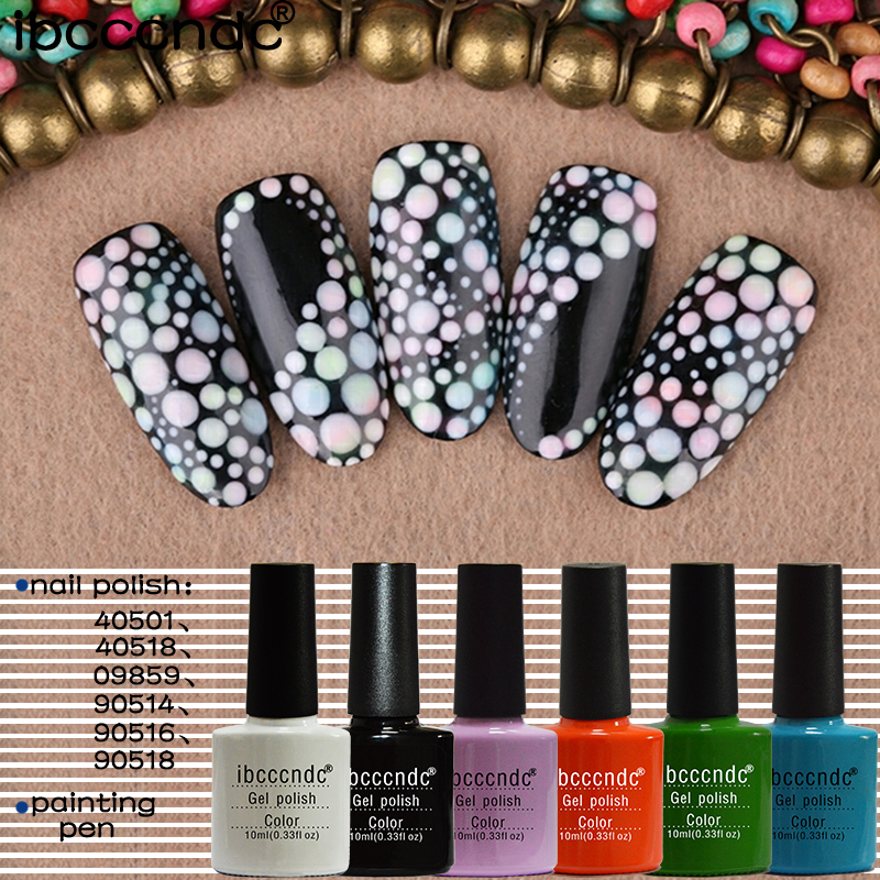 Ibcccndc 6pcs Nail Gel Polish Soak Off Gel 10ml Lasting UV Gel 79 Colors Nail Art Gelpolish Lacquer Need Base Top Coat Varnish customized acrylic lectern crystal podium pulpit