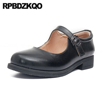 mary jane round toe elevator vintage women oxfords shoes chinese rubber sole ladies black japanese large size brown flats thick