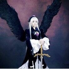 Trajes de cosplay de anime Japonés Rozen maiden Suigintou ropa (vestido de Blanco + top + falda + el collar + accesorio para el pelo)