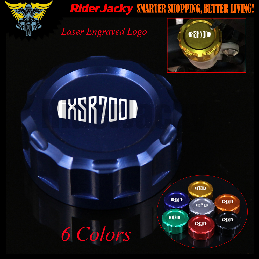 7 Colors CNC Aluminum Motorcycle Rear Brake Fluid Reservoir Cover Cap For Yamaha XSR700 XSR 700 XSR-700 2014 2015  2016 universal motorcycle brake fluid reservoir clutch tank oil fluid cup for mt 09 grips yamaha fz1 kawasaki z1000 honda steed bone