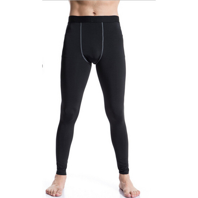 #1020 Men Bodybuilding Fitness Joggers Compression Base Layer Thermal  Tights Sweatpants Skins Cool Dry Active Pants Size S-3XL