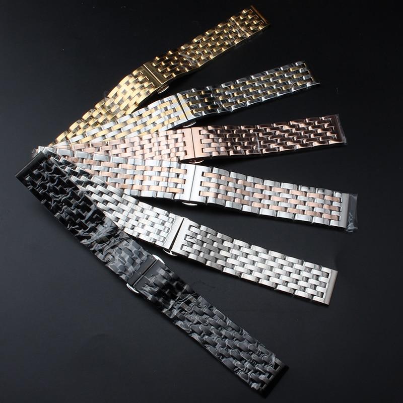 New Fashion Watchband Bracelet for luxury Watches Men Women 20MM 22mm Strap straight end Black Silver