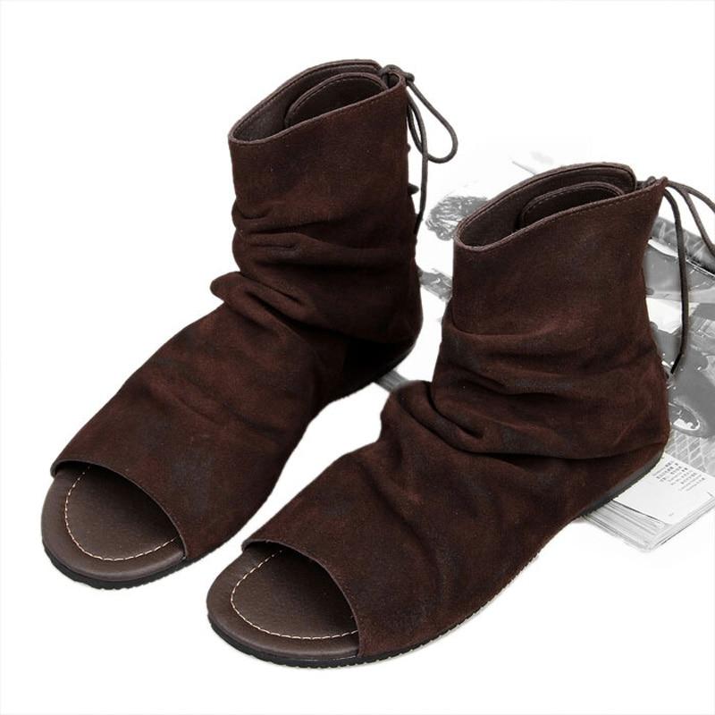 Preto Alta Slides Preto Gladiador top Sapatos Verão Homens Seak Sandálias marrom Owen Up De Roma Chinelos Adulto Lace q4P0aXnwx