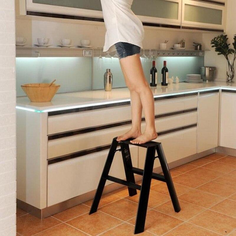 Aluminium Floding Zwei Schritt Stühle Leitern Haushalts Kicthen Kleiderschrank Schritt Leitern Multi-funktionale üBereinstimmung In Farbe