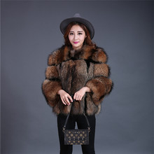 Dark Brown Raccoon Fur Jacket Raccoon Fur Parka Striped Jacket Patchwork Rex Rabbit Fur Jacket Blazer