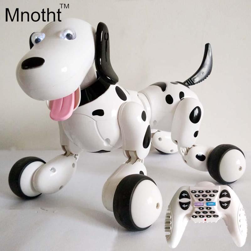No Corner Children Protect 2.4G Wireless Remote Control Smart Dog/Program Available Intelligent Robot Dog Black/Pink intelligent wireless remote control robot dog kids dancing walking dog