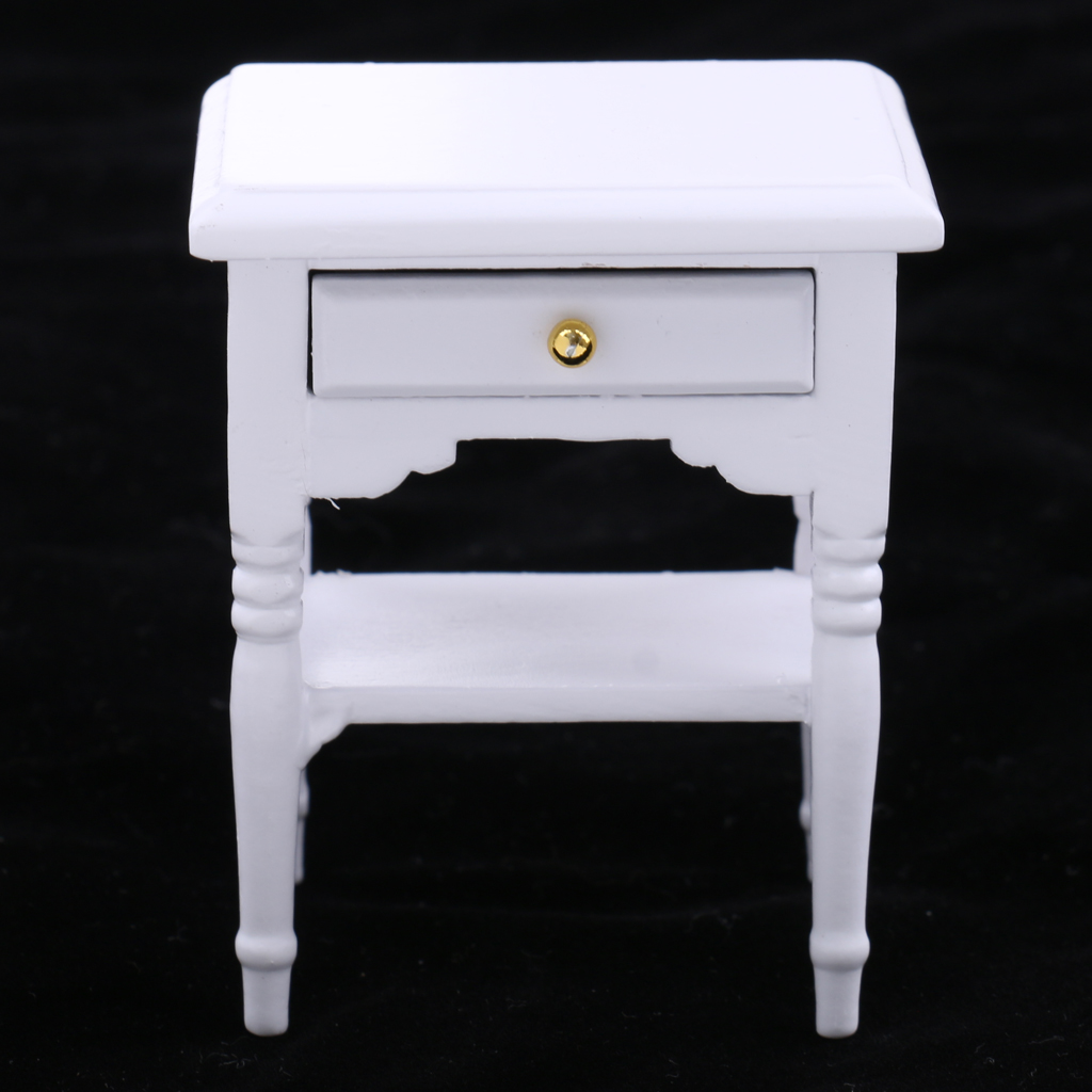 1/12 Dollhouse Miniature Furniture Bedside Table Nightstand with Drawer1/12 Dollhouse Miniature Furniture Bedside Table Nightstand with Drawer