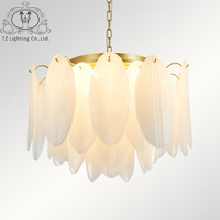 TZ Simple Postmodern Personalized Handmade Glass Living Room Bedroom Restaurant Study Modern Nordic Art Chandelier Luminaria