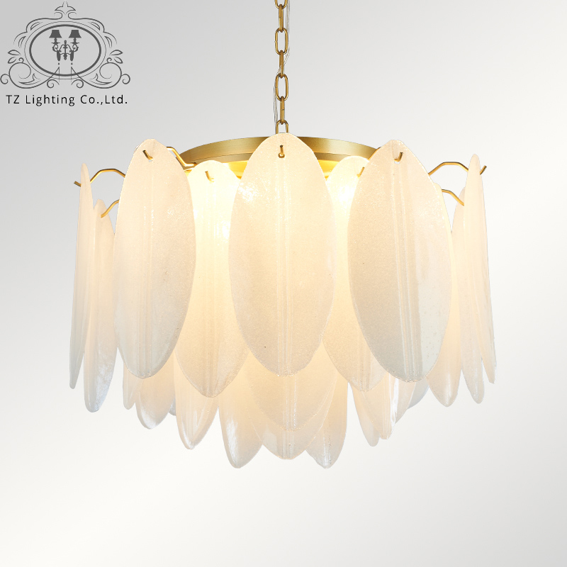 TZ Simple Postmodern Personalized Handmade Glass Living Room Bedroom Restaurant Study Modern Nordic Art Chandelier luminaria vintage clothing store personalized art chandelier chandelier edison the heavenly maids scatter blossoms tiny cages