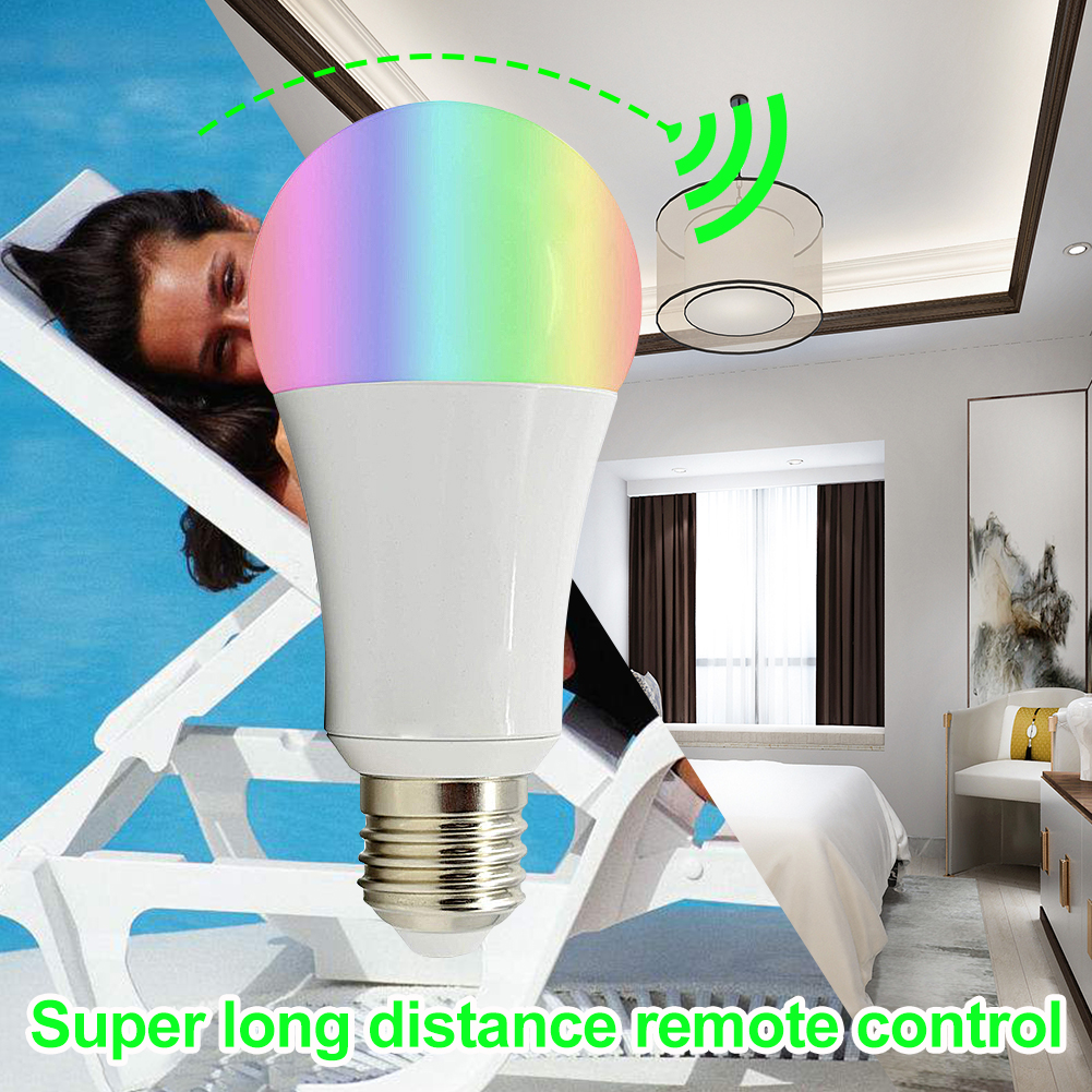 Rgbw Bulb Wifi Wireless Control E27 B22 Rgb Dimmable Lamp 18w Home Led Smart Bulb 16 Million Color Light Amazon Alexa Control