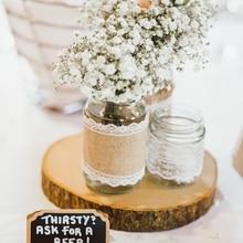 1pc DIY Wooden Crafts Log Sheet Vintage Wood Wedding table Decoration centerpieces Handcraft tag Rustic wedding Decor