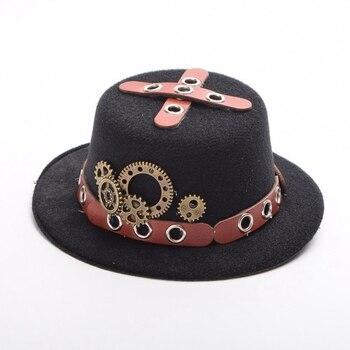 Шляпка в стиле стимпанк с очками в ассортименте 1