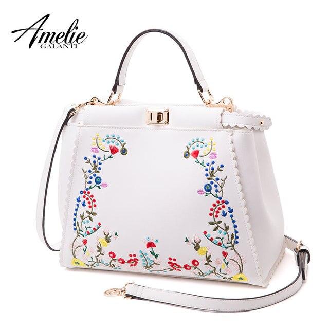AMELIE GALANTI Классическая сумка с вышивкой