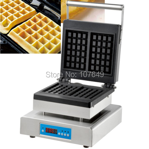 110V 220V Commercial Use Non-stick Electric Digital Belgian Waffle Maker Iron Machine Baker free shipping commercial use non stick 110v 220v electric 8pcs square belgian belgium waffle maker iron machine baker