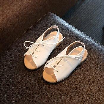 2019 nouvelles chaussures en cuir pour enfants chaussures enfants filles sandales en dentelle filles sandales d'été