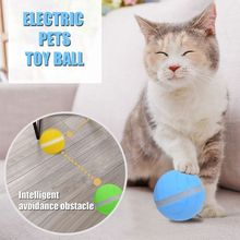 LED Rolling Flash Ball Cat Toy USB Charging Pet for Puppy Dog Funny Interactive Electronic Luminous Light Toys