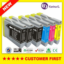 6PK Ink Cartridge for LC10 LC37 LC51 LC57 LC960 LC970 LC1000 For Brother DCP-130C DCP-135C MFC-235C MFC-240C printer Inkjet