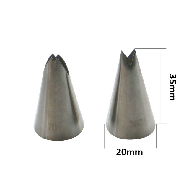 SHENHONG 13PCS Stainless Steel Pastry Nozzles And Coupler 3