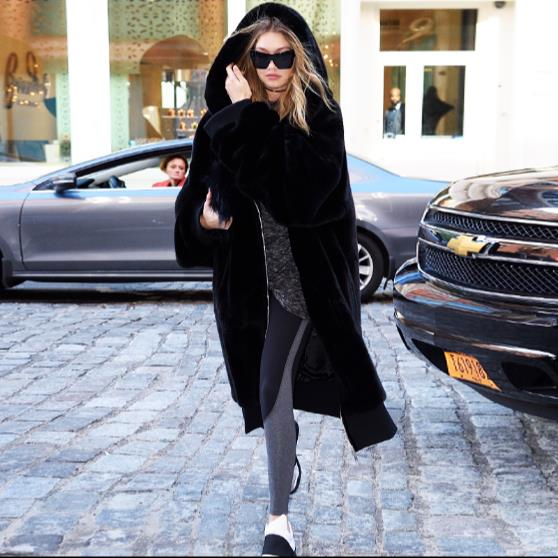 Femmes Fourrure De 2018 Z284 Plus Chaud Femme Veste Artificielle Furry Manteau D'hiver Faux La Taille Nouveau Outwear 1xgwp41
