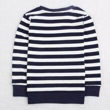 2019 Fashion Children Clothes For Girls T-shirt Striped Kids Tops Spring Long Sleeve Girls t shirt Cotton Cartoon Flower стоимость