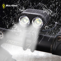 WOSAWE Ultra Bright 2 LED 2400Lumen Bike Light CREE XML T6 Bicicleta Bicycle Light Front Head