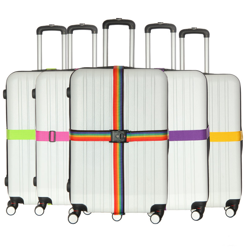 Luggage Strap Cross Belt Packing Adjustable Travel Suitcase Travel Accessories For Trolley Suitcase Safe Packing Belt