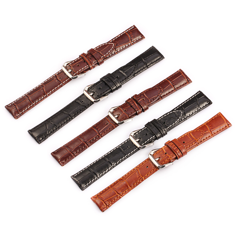 High Quality Watch Band Bracelet Genuine Leather Strap Watchband Accessories Steel Buckle Watchbands 12 14 18 20 22 24 mm hot sale watchband high quality leather watch accessories for women 14 15 16 17 18 19 20 21 22 23 24 mm strap belt free shipping